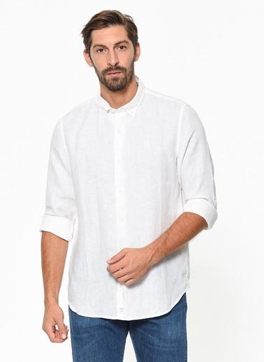Timberland Ls Mill River Linen Shirt Slim Beyaz